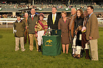 17 October 2009: The winning connections of Hot Cha Cha in the winners circle for the G1Queen Elizabeth Stakes at Keeneland Race Course in Lexington, Kentucky.