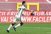 Henrikh Mkhitaryan of AS Roma celebrates after scoring a goal during the Serie A football match between Genoa CFC and AS Roma at Marassi Stadium in Genova (Italy), November 11th, 2020. Photo Gino Mancini / Insidefoto