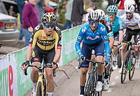 Wout van Aert (BEL/Jumbo-Visma) up the final ascent of the Geulhemmerberg, followed by Alejandro Valverde (ESP/Movistar)<br /> <br /> 55th Amstel Gold Race 2021 (1.UWT)<br /> 1 day race from Valkenburg to Berg en Terblijt; raced on closed circuit (NED/217km)<br /> <br /> ©kramon