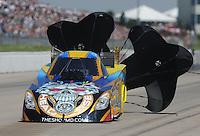 May 22, 2011; Topeka, KS, USA: NHRA funny car driver Jim Head during the Summer Nationals at Heartland Park Topeka. Mandatory Credit: Mark J. Rebilas-