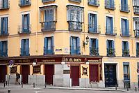 Picturesque urban apartment building, Madrid, Spain