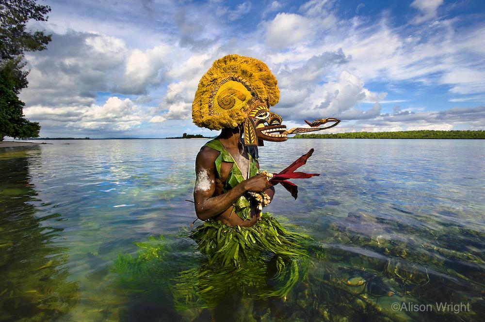 Masks, New Ireland, Papua New Guinea.