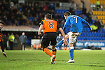 St Johnstone v Dundee United...27.12.14   SPFL<br /> Chris Millar scores the winning goal<br /> Picture by Graeme Hart.<br /> Copyright Perthshire Picture Agency<br /> Tel: 01738 623350  Mobile: 07990 594431