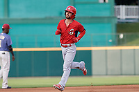 Springfield Cardinals Kramer Robertson (3) running the bases during a Texas League game against the Frisco RoughRiders on May 6, 2019 at Dr Pepper Ballpark in Frisco, Texas.  (Mike Augustin/Four Seam Images)