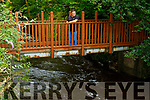 Jerry O'Sullivan Chairman of Kenmare Marketing & Events Group(KMEG) showing one of the choke points on the river just down from Cromwell's Bridge which had water flowing over the walkway on Thursday morning.