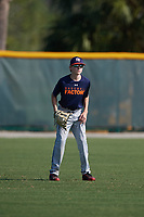 Brian Bernhardt (18), from Timonium, Maryland, while playing for the Astros during the Baseball Factory Pirate City Christmas Camp & Tournament on December 28, 2017 at Pirate City in Bradenton, Florida.  (Mike Janes/Four Seam Images)