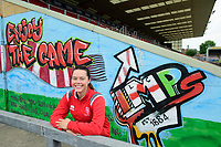 Lincoln City Women's captain Chloe Brock-Taylor during at a press conference<br /> <br /> Photographer Chris Vaughan/CameraSport<br /> <br /> Lincoln City Women - Press conference - Tuesday 18th June 2019 - Sincil Bank - Lincoln<br /> <br /> World Copyright © 2019 CameraSport. All rights reserved. 43 Linden Ave. Countesthorpe. Leicester. England. LE8 5PG - Tel: +44 (0) 116 277 4147 - admin@camerasport.com - www.camerasport.com