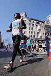 Feb. 27, 2011 - Tokyo, Japan - A participant in the Tokyo Marathon races through the Ginza district part of town. (Photo by Daiju Kitamura/AFLO SPORT)