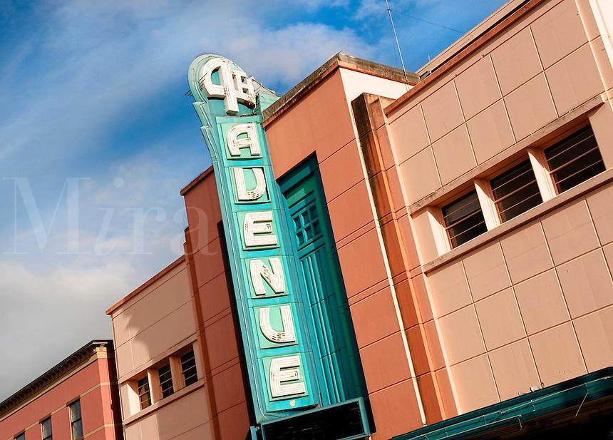 Art deco building, Fourth Avenue Theatre, Lathrop Building, movie theater, Anchorage, Alaska