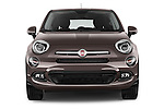 Car photography straight front view of a 2015 Fiat 500X Lounge 5 Door SUV