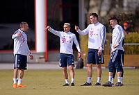 05.03.2018,  Football 1.Liga 2017/2018,  FC Bayern Muenchen Training an Saebenerstrasse in Muenchen. v.li: Franck Ribery (FC Bayern Muenchen), Rafinha (FC Bayern Muenchen), Niklas Suele (FC Bayern Muenchen), Robert Lewandowski (FC Bayern Muenchen). *** Local Caption *** © pixathlon<br /> <br /> Contact: +49-40-22 63 02 60 , info@pixathlon.de