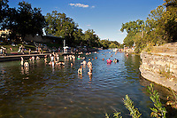 Barton Springs Pool in Zilker Park is a spring fed, over 900 feet long and the average temperature year round is 68 degrees Fahrenheit.