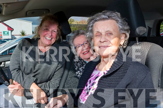 Wk 38 At the Glenbeigh/Glencar GAA Drive-in Bingo on Sunday afternoon from Glenbeigh<br /> L-R Jane Griffin Nuala Spillane & Elizabeth Opt-Eynde