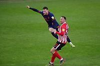 Blackpool's Oliver Turton shoots over during Sunderland AFC vs Blackpool, Sky Bet EFL League 1 Football at the Stadium Of Light on 27th April 2021