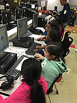 The girls from Grissom ES are hard at work cracking the code.