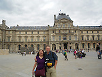 John and Beth in front of the Louvre Museum in Paris, France.