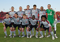 28 April 2010: The Toronto FC starting eleven during a Nutrilite Canadian Championship game between the Montreal Impact and Toronto FC at BMO Field in Toronto..Toronto FC won 2-0.....