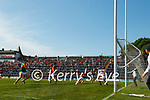 Paudie Clifford, Kerry, in action against Cian Kiely, Cork, during the Munster GAA Football Senior Championship Final match between Kerry and Cork at Fitzgerald Stadium in Killarney on Sunday.