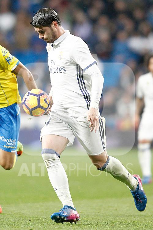 Real Madrid's Alvaro Morata during La Liga match. March 1,2017. (ALTERPHOTOS/Acero)