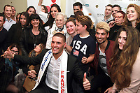 Mister France Eloy Pechier et sa famille - Election de Mister France 2017 au Théatre le Palace - Paris, France - 14/03/2017