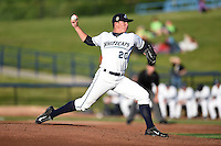 West Michigan Whitecaps pitcher Chad Green (20) delivers a pitch during a game against the Great Lakes Loons on June 4, 2014 at Fifth Third Ballpark in Comstock Park, Michigan.  West Michigan defeated Great Lakes 4-1.  (Mike Janes/Four Seam Images)