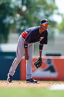 Minnesota Twins Jermaine Palacios (22) during an instructional league game against the Baltimore Orioles on September 22, 2015 at Ed Smith Stadium in Sarasota, Florida.  (Mike Janes/Four Seam Images)