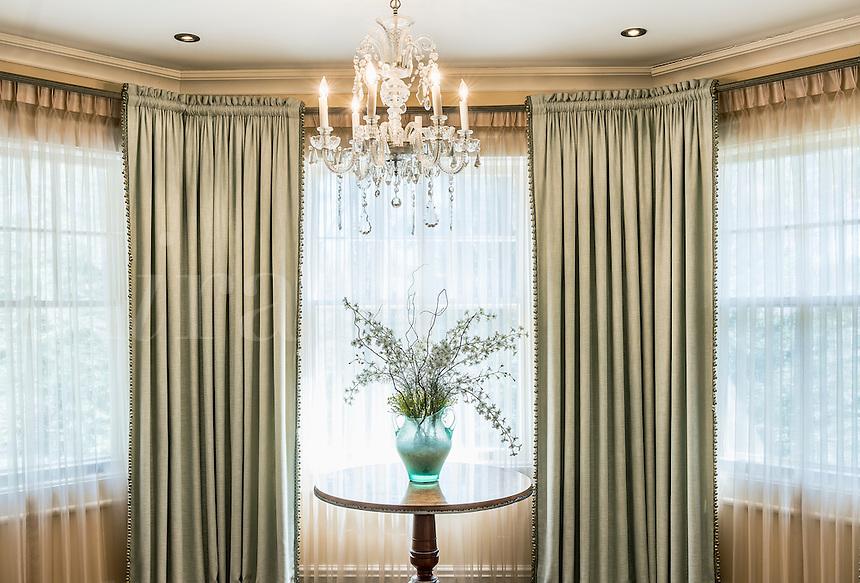 Elegant interior design and window treatment.