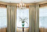 Elegant interior design and window treatment.