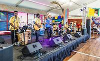 Brad Pattico & The Talla Walla Creole Drummers perform at Jazz Fest 2016 in New Orleans, LA.