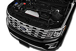 Car stock 2018 Ford Expedition XLT MAX 4x2 5 Door SUV engine high angle detail view
