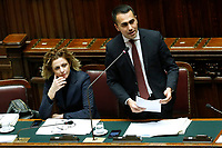 Giulia Grillo and Luigi Di Maio<br /> Rome February 13th 2019. Lower Chamber. Ministers of Internal Affairs, of Labour and of Health at the Question Time at the Chamber of Deputies.<br /> Foto Samantha Zucchi Insidefoto