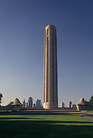 "Kansas City, MO, Missouri, Liberty Memorial Tower located in Penn Valley Park, a 217-foot """"Torch of Liberty"""" observation tower, in Kansas City."
