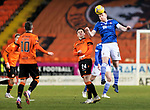 Dundee United v St Johnstone…12.01.21   Tannadice     SPFL<br />Liam Craig gets above Lawrence Shankland<br />Picture by Graeme Hart.<br />Copyright Perthshire Picture Agency<br />Tel: 01738 623350  Mobile: 07990 594431