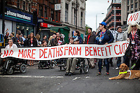 19.05.2016 - DPAC Roadblock at Tottenham Court Road - #UCutWeFight