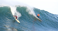 Greg Long and Jamie Sterling.  Mavericks Surf Contest 2008.  Half Moon Bay, Ca.  January 12, 2008.