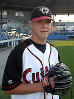 August 25, 2003:  Pitcher Paul Maholm of the Williamsport Crosscutters, Short Season Class-A affiliate of the Pittsburgh Pirates, during a NY-Penn League game at Bowman Field in Williamsport, PA.  Photo by:  Mike Janes/Four Seam Images