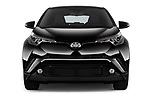 Car photography straight front view of a 2017 Toyota C-HR C-Show 5 Door SUV Front View