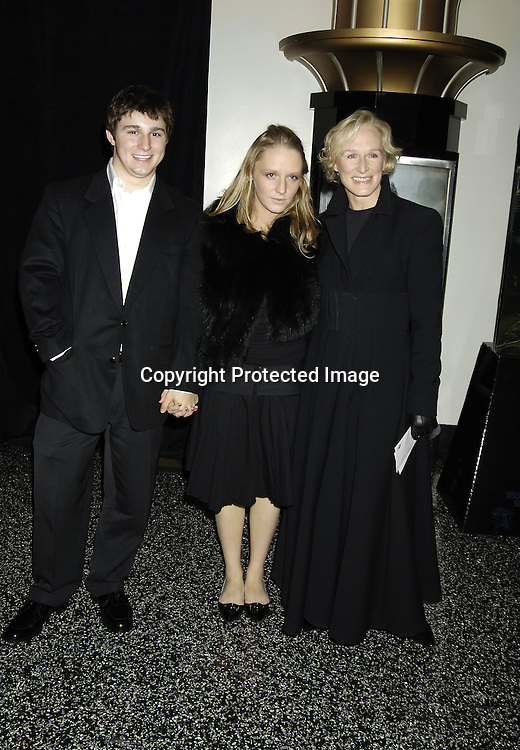 """Annie and Glenn Close and guest ..at The World Premier of Universal Pictures """" King Kong"""" ..on December 5, 2005 at The Loews E-Walk. ..Photo by Robin Platzer, Twin Images"""