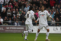 Pictured: Jason Scotland (centre) of Swansea City celebrating his equaliser from the penalty spot<br /> Re: Coca Cola Championship, Swansea City FC v Doncaster Rovers at the Liberty Stadium. Swansea, south Wales, Saturday 21 February 2009<br /> Picture by D Legakis Photography / Athena Picture Agency, Swansea 07815441513