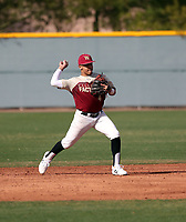Harold Coll takes part in the 2019 Under Armour Pre-Season All-America Tournament at the Chicago Cubs and Oakland Athletics training complexes on January 19-20, 2019 in Mesa, Arizona (Bill Mitchell)