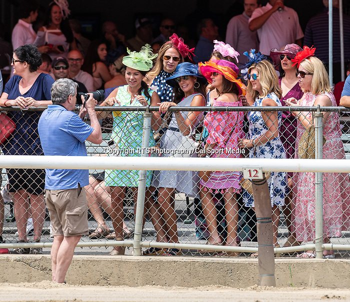 7/17/2021: Dan Heary (photographer) working the crowd at Saratoga Race Course in Saratoga Springs, New York on July 17, 2021. Rob Simmons/Eclipse Sportswire/CSM