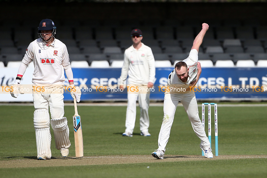 Danny Lamb in bowling action for Lancashire during Essex CCC vs Lancashire CCC, Friendly Match Cricket at The Cloudfm County Ground on 25th March 2021