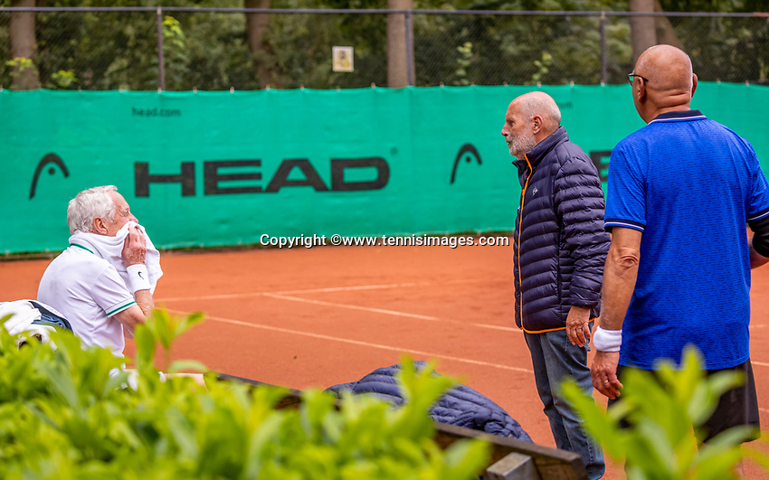 Hilversum, The Netherlands,  August 17, 2021,  Tulip Tennis Center, NKS, National Senior Tennis Championships, Discussion with Umpire<br /> Photo: Tennisimages/Henk Koster