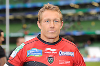 Jonny Wilkinson of RC Toulon looks thoughtful after winning the Heineken Cup Final between ASM Clermont Auvergne and RC Toulon at the Aviva Stadium, Dublin on Saturday 18th May 2013 (Photo by Rob Munro)