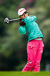 Mi-Hyang Lee of Korea plays a shot during the Hyundai China Ladies Open 2014 on December 12 2014 at Mission Hills Shenzhen, in Shenzhen, China. Photo by Li Man Yuen / Power Sport Images