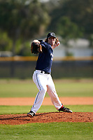 Pitcher Ben Moore (17) during the Perfect Game National Underclass East Showcase on January 23, 2021 at Baseball City in St. Petersburg, Florida.  (Mike Janes/Four Seam Images)