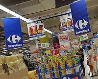 A branch of the French retailer Carrefour in Sayama, Saitama Prefecture, Japan. Carrefour sold it's stores to Japanese Company EON in 2005. The Sayama store was virtually deserted on Wednesday evening..