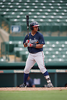 GCL Braves Brandol Mezquita (39) at bat during a Gulf Coast League game against the GCL Orioles on August 5, 2019 at Ed Smith Stadium in Sarasota, Florida.  GCL Orioles defeated the GCL Braves 4-3 in the second game of a doubleheader.  (Mike Janes/Four Seam Images)