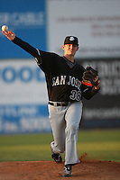 April 28 2009: Tim Alderson of the San Jose Giants before game against the Lancaster JetHawks at Clear Channel Stadium in Lancaster,CA.  Photo by Larry Goren/Four Seam Images