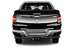 Straight rear view of 2016 Mitsubishi L 200 Intense 4 Door Pickup Rear View  stock images
